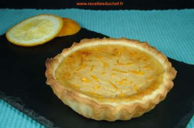 Tarte à l'orange et ricotta