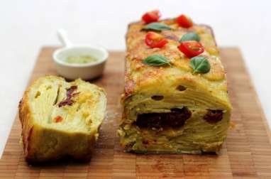 Gâteau invisible aux pommes de terre et saveurs italiennes