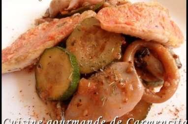 Poêlée de rougets et calamars à la provençale