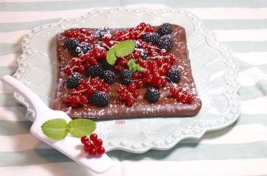 Carré au chocolat menthe et fruits rouges