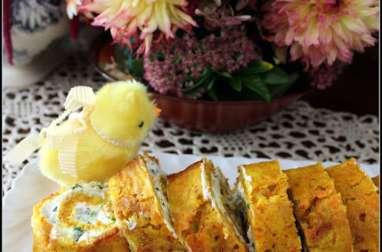 Roulé carottes au curcuma et à la ciboulette