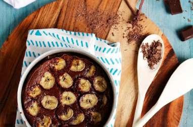 Clafoutis au Chocolat et Bananes