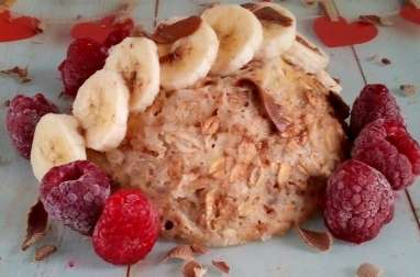 Bowl cake flocons d'avoine banane chocolat coco