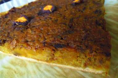 Tarte salée vegan à la butternut et aux carottes