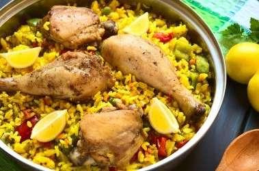 Paella de poulet