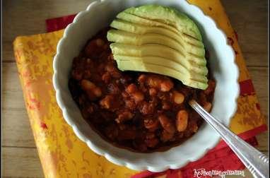 Chili sin carne aux trois haricots