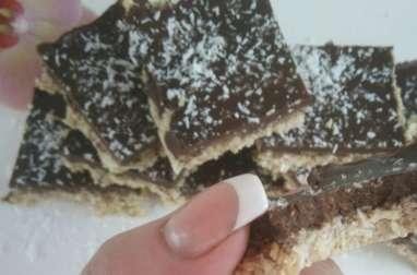 Carrés chocolat, flocons d'avoine healthy