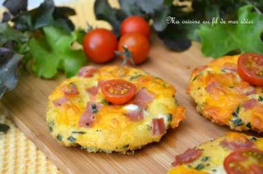 Toast-omelettes au jambon, gruyère et cheddar