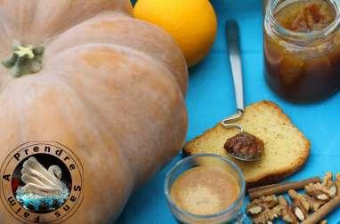 Confiture de potiron aux noix