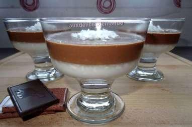 Panna cotta au lait de coco et chocolat noir