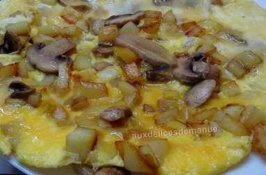 Omelette aux pommes de terre et champignons