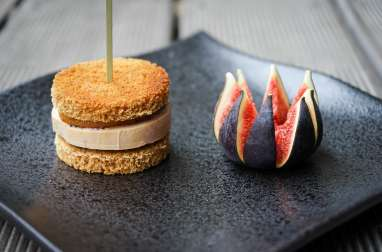 Burger de foie gras sucré salé
