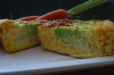 Flan chou romanesco et carottes à l'emmental