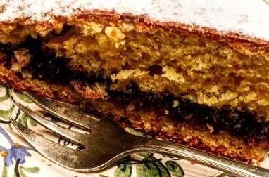 Gâteau à la confiture de myrtille