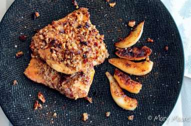 Escalopes de foie gras panées aux noix
