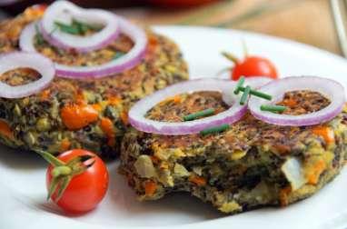 Steak végétal maison lentilles, psyllium