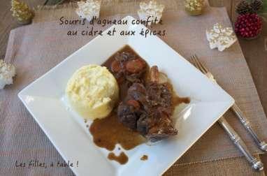 Souris d'agneau confite au cidre et aux épices