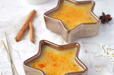 Crème brûlée à l'orange et à la cannelle