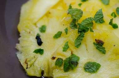 Carpaccio d'ananas saveur mojito