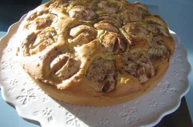 Gâteau facile et moelleux aux pommes et à la cannelle