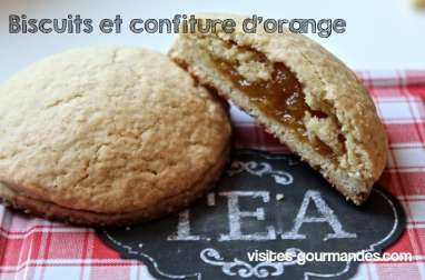 Biscuits au cœur confiture d'orange