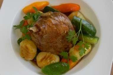 Jambonnette de canard et ses légumes