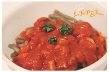 Sauce tomate aux petits légumes épicés