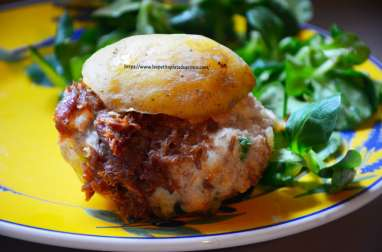 Pomme de terre farcie gersoise au confit de canard