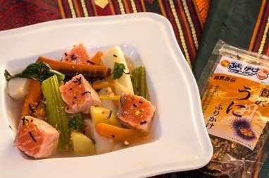 Pot-au-feu de saumon aux épices japonaises
