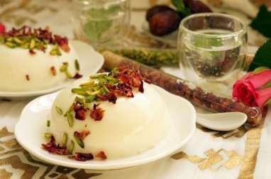 Mahalabia libanaise rose et pistache
