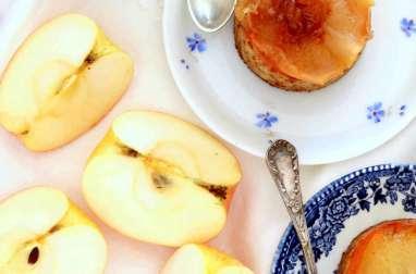 Mini-cake renversé aux pommes caramélisées