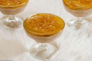 Fromage blanc à la crème de châtaignes et à la confiture d'orange