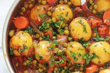 Légumes mijotés en sauce tomate