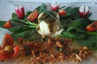 Crottin de chavignol grillé au thym miel et spéculoos