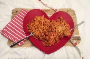 Spaghettis aux petites boulettes
