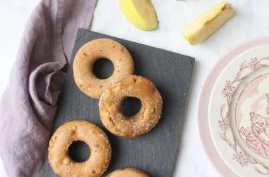 Donuts aux pommes caramélisées et cannelle cuits au four