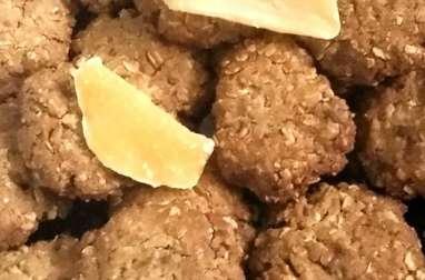 Biscuits flocons d'avoine, chocolat et mangue séchée