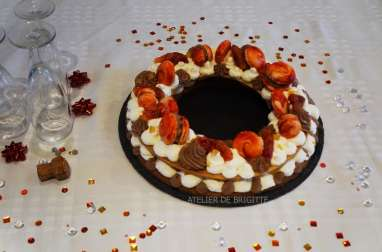 Circle cake, namelaka chocolat épicé, orange et oranges sanguines
