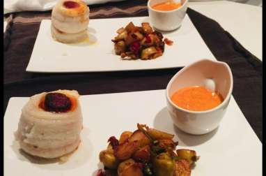 Rouleaux de sabre, crème de chorizo avec ses pommes de terre/poivrons