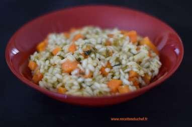 Risotto aux carottes et laitue de mer