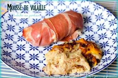 Mousse de volaille bardée au jambon sec
