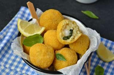 Arancini basilic et mozzarella végétale