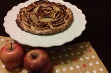 Tarte paysanne aux pommes à la cannelle