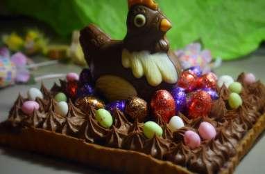 Tarte aux 2 chocolats pour Pâques