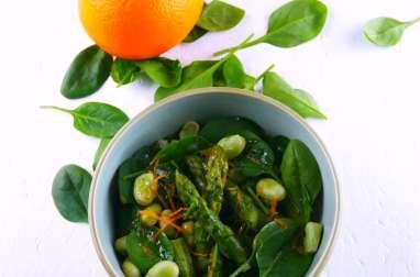 Salade « verte » printanière et vinaigrette aux agrumes