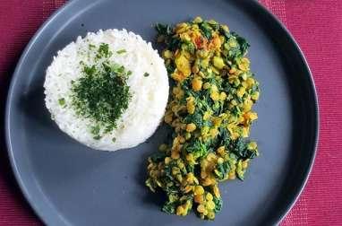 Lentilles & épinards