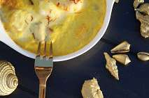 Gratin de fruits de mer au safran