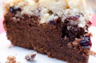 Crumb cake au chocolat