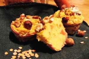 Muffins aux lentilles corail, carottes et curry