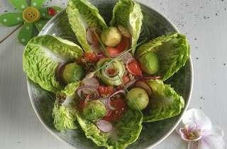 Salade fleurie quinoa tomate radis avocat